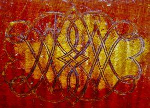 Barak Norman's Monogram on the back of this Tenor Viola