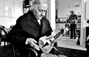 The artist with the violin, observed. JanGroth w/ Anne Birgitte Paulsen. 29 11 16