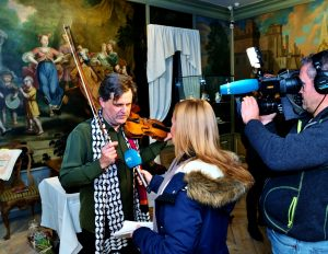 Talking to NRK News abou the Ole Bull Bow 28 11 16